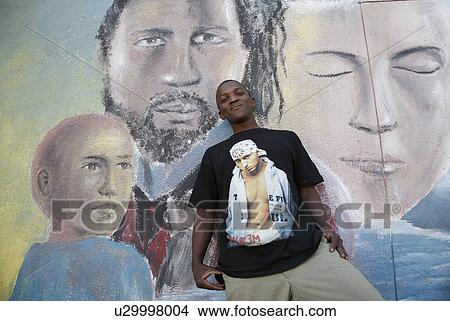 Stock photo of shirt person eminem youth namibia for Eminem wall mural