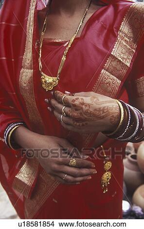 Banque De Photo Inde Rajsatan Jaipur Main Femme A Henna