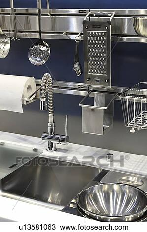 franke kitchen accessories stock photo of franke active kitchen stainless steel sink 1055