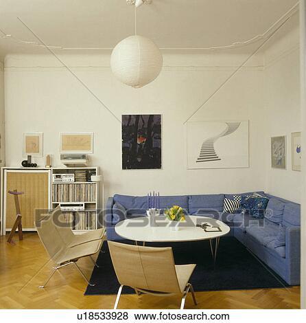 Miraculous Blue Corner Sofa In White Scandinavian Living Room Stock Inzonedesignstudio Interior Chair Design Inzonedesignstudiocom