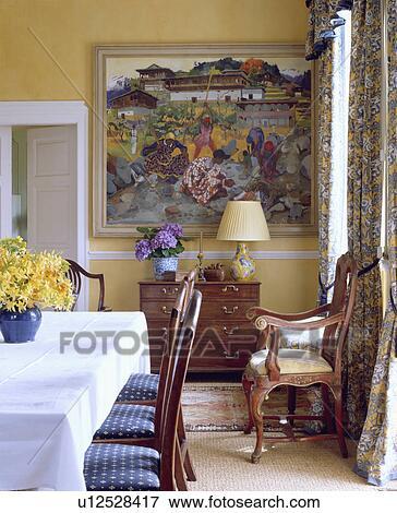 Foto Branca Pano Ligado Retangular Tabela Em Amarela