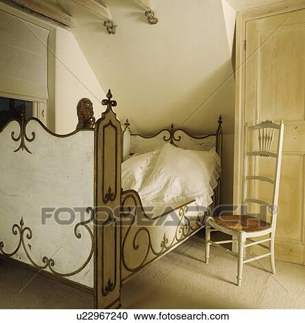 Attic Bedroom With Rush Seated