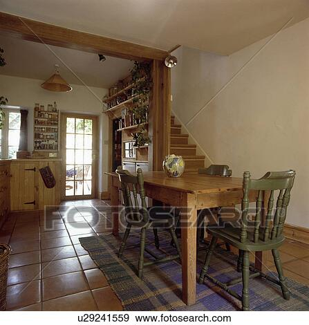 Mobilia, interno, tradizionale, cucine, sedie, interiors Archivio ...