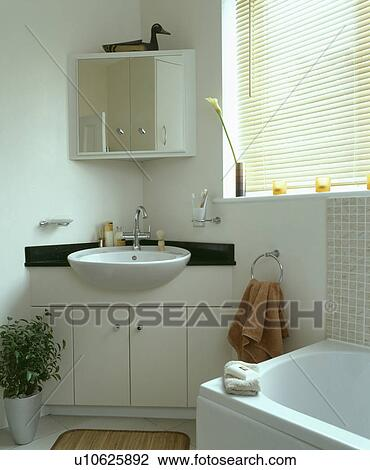 Modern White Bathroom With Corner Basin