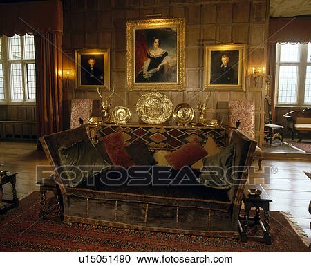 Velvet Knole Sofa In Panelled
