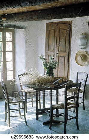 Stock Photo of Interior of Rustic French Farmhouse. u29696683 ... on rustic shabby chic interiors, rustic garden shed, rustic french country living room, french cottage interiors, french home interiors, rustic french country kitchen, rustic wood farmhouse dining room table,