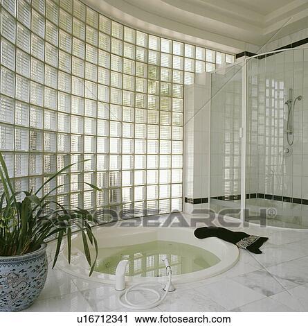 Mur En Verre Salle De Bain Fabulous Mur Brique De Verre Douche Avec