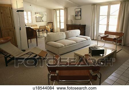 stock foto le corbusier chaiselongue und marcel. Black Bedroom Furniture Sets. Home Design Ideas