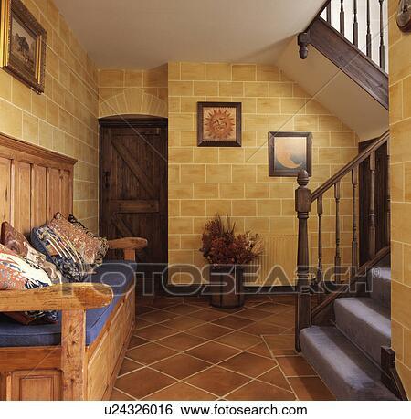 Colección de imágenes - muebles, interior, banco, tradicional ...