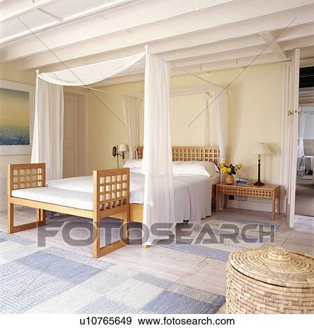 White Voile Curtains And Linen On