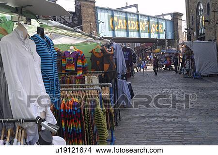 5fab2347d1ec Αγγλία, λονδίνο, camden, αγορά, ρούχα, ακινητοποιούμαι, μέσα, camden,  market.