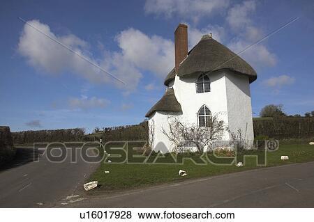 Bilder England Somerset Stanton Drew Dass Rundes Haus An