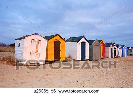 Stock Images Of England Suffolk Southwold A Row Of Colourful