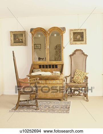 Caned Back Antique Chairs