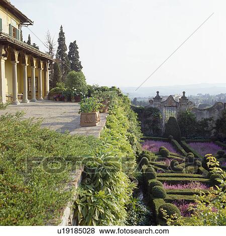 Images Formel Parterre Jardin Au Dessous Classique Villa