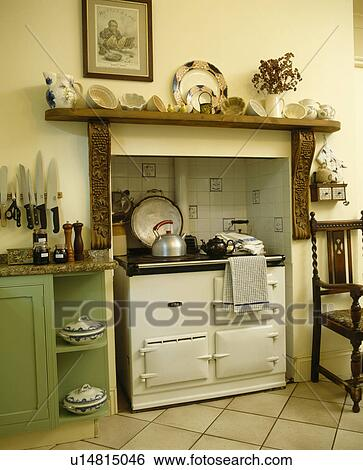 Stock Images Of White Aga Oven In Country Kitchen U14815046 Search