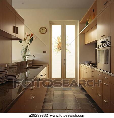 Ardesia, mattonelle pavimento, in, neutrale, galea, cucina Archivio ...