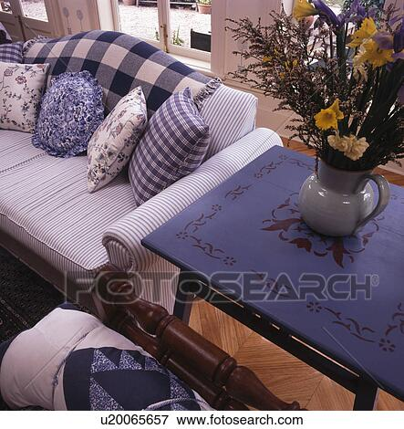 Amazing Floral Painted Blue Table Beside White Sofa With Blue Squirreltailoven Fun Painted Chair Ideas Images Squirreltailovenorg