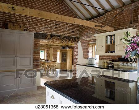 Large Barn Conversion Kitchen And Dining Room