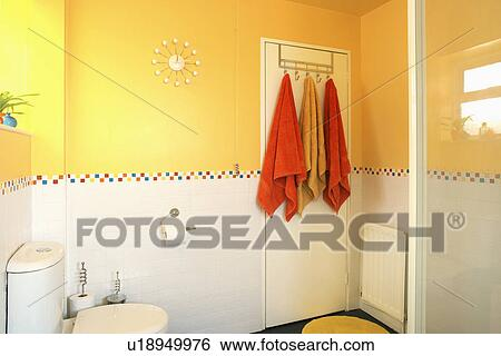 Door In Yellow Family Bathroom