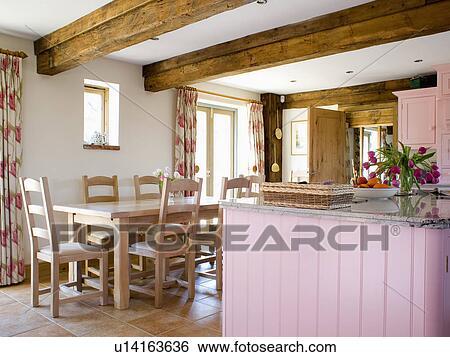Colección de imágenes - tabla de madera, y, sillas, en, emitido ...