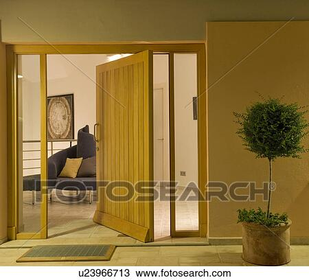 Apartment front door at the Mclundie hotel in Southern Spain. Stock Image