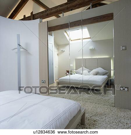 Mirrored Wall Tiles In Modern White