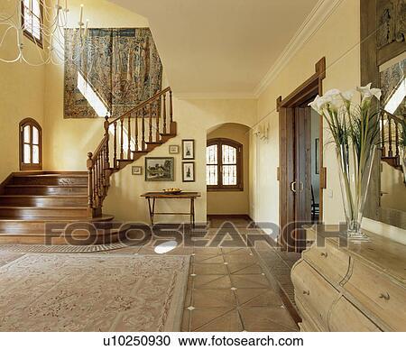 Modellato tappeto su terracotta mattonelle pavimento for Mattonelle per salone