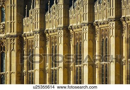 England London Westminster Close Up Of Gothic Revival Architecture The Houses Parliament A Landmark Building In Central And Home To