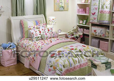 Foto - agradable, niños, muebles del dormitorio, en, pastel, sombras ...