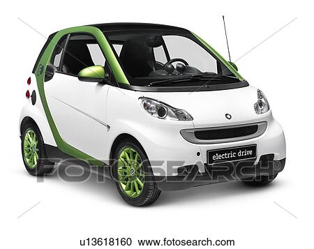 Stock Image 2010 Smart Fortwo Electric Drive Esmart Ed Battery City