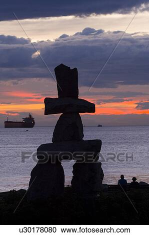 Stock Photography Of An Inukshuk The Symbol Of The 2010 Vancouver