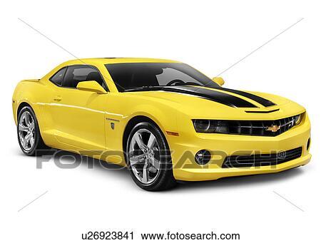banques de photographies jaune 2010 chevrolet camaro 2ss coup voiture sport isol. Black Bedroom Furniture Sets. Home Design Ideas