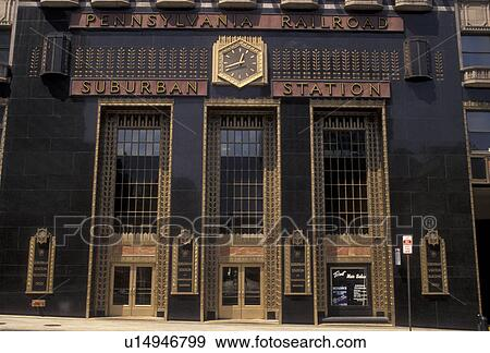 Philadelphia, Suburban Station, train station, Pennsylvania, Pennsylvania  Railroad, Suburban Station building in downtown Philadelphia in the state  of ...