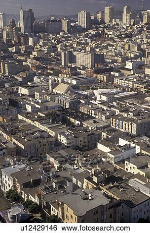 Banque d\'Images - san francisco, aérien, en ville, domaine baie ...
