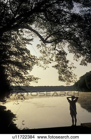 Stock Photo Of Silhouette Potomac River Chesapeake And Ohio Canal