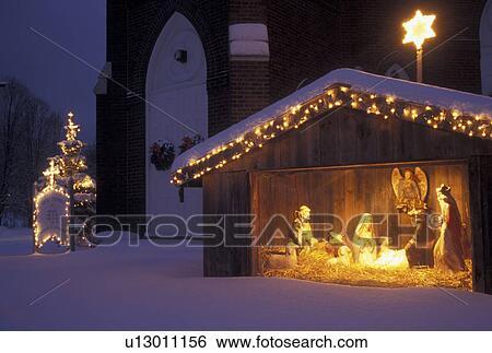 stock bilder krippenspiel weihnachten winterbilder. Black Bedroom Furniture Sets. Home Design Ideas