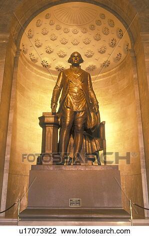 Alexandria Va Virginia Statue Of George Washington Inside The George Washington Masonic National Memorial In Alexandria Stock Image