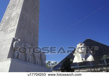 Stock Photo Of Luxor Las Vegas Pyramid Sphinx Nevada Nv The Strip Giant And Shaped Hotel At On