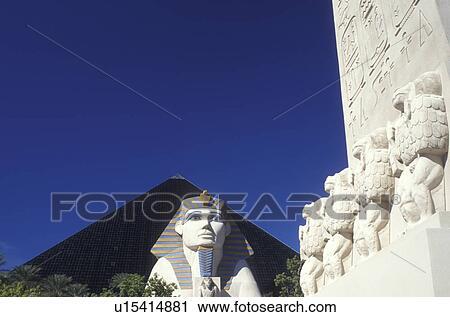 Stock Photography Of Luxor Las Vegas Pyramid Casino Sphinx