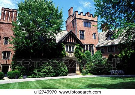 Stock Photography of mansion, Akron, OH, Ohio, Stan Hywet Hall and ...