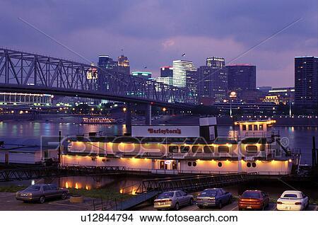 Stock Photo Of Riverboat Skyline Cincinnati Oh Ohio
