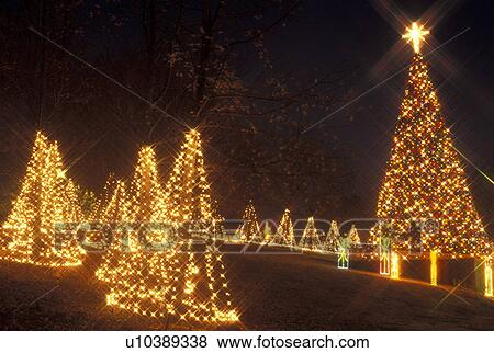 Christmas decoration, Marietta, GA, Georgia, Atlanta, Lights of Life  Christmas light display of Christmas trees and presents at Life College in  Marietta - Pictures Of Christmas Decoration, Marietta, GA, Georgia, Atlanta