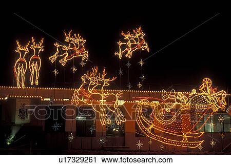 christmas decoration marietta ga georgia atlanta lights of life christmas light display of santa and reindeer at life college in marietta