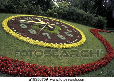 Banque de photographies floral horloge gen ve suisse for Jardin anglais geneve suisse