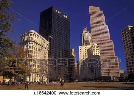 stock photography of atlanta ga georgia downtown skyline high