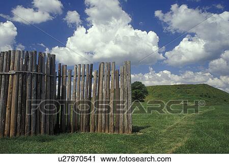 Collinsville, IL, Illinois, Cahokia Mounds State Historic Site Stock Image