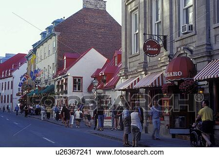 Quebec City Canada Restaurants And S Along Rue St Louis Old