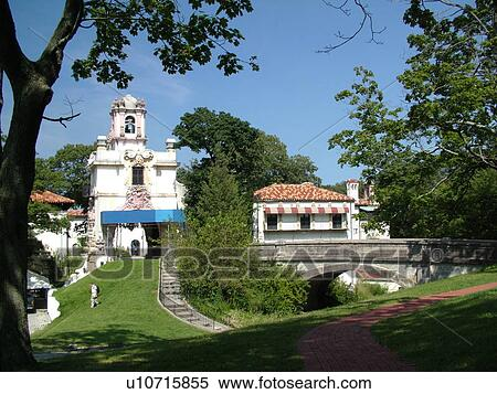 Centerport, NY, New York, Long Island, Vanderbilt Museum, Spanish style  mansion Stock Photography