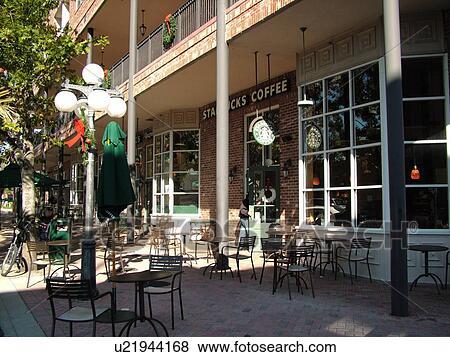 Gainesville Fl Florida Historic Downtown Starbucks Coffee